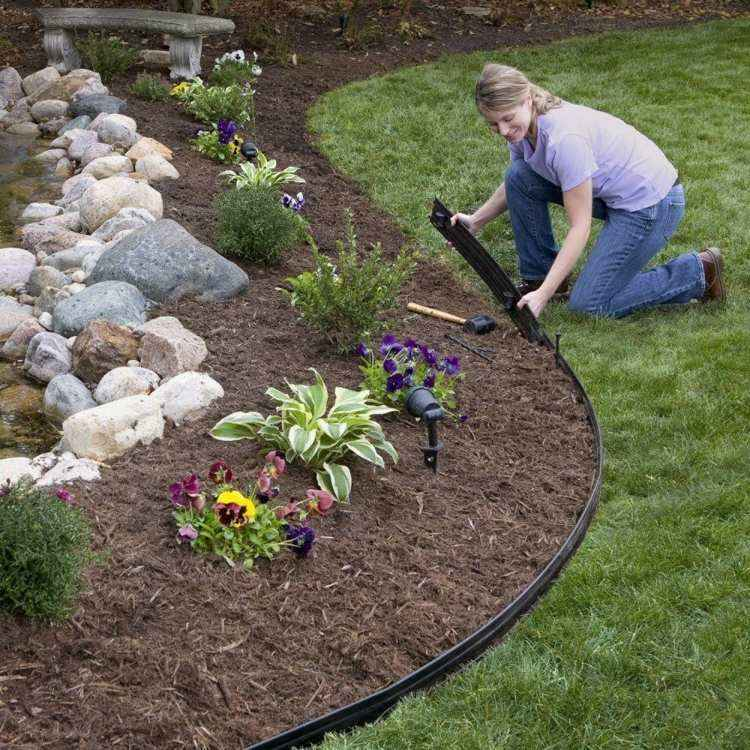 bordure de pelouse choix de materiaux