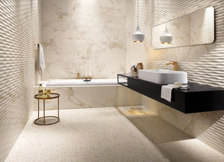 carrelage mural salle de bain de design
