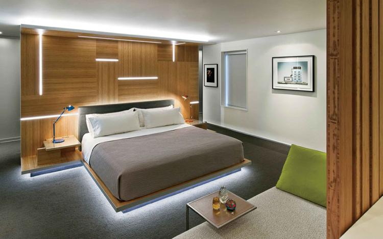 lit avec led integre au dessous 11