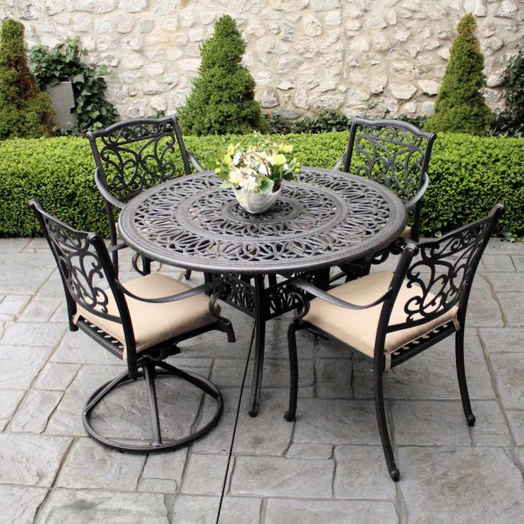mobilier de jardin en fer forge bonne
