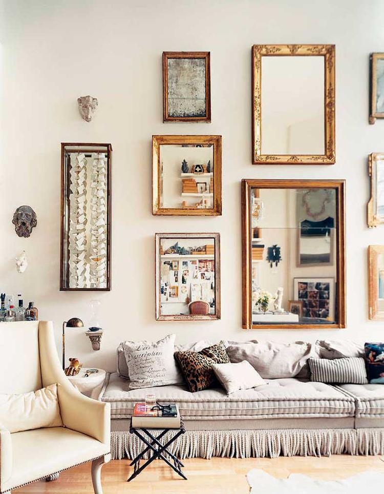 grand miroir vintage a utiliser dans la decoration 20 idees charmantes