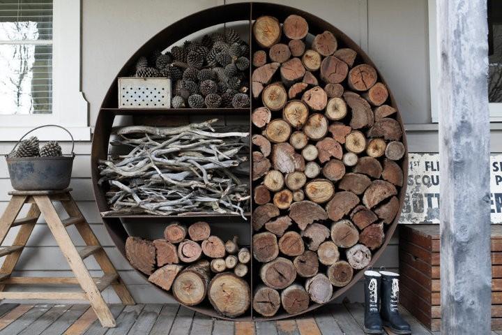 rangement bois de chauffage exterieur