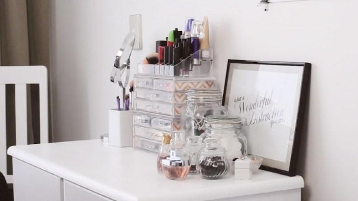 rangement maquillage pratique-joli-idées-créatives-réaliser-maison