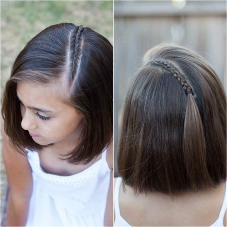 coiffure pour petite fille -tresse-dessus-tête-coupe-carré