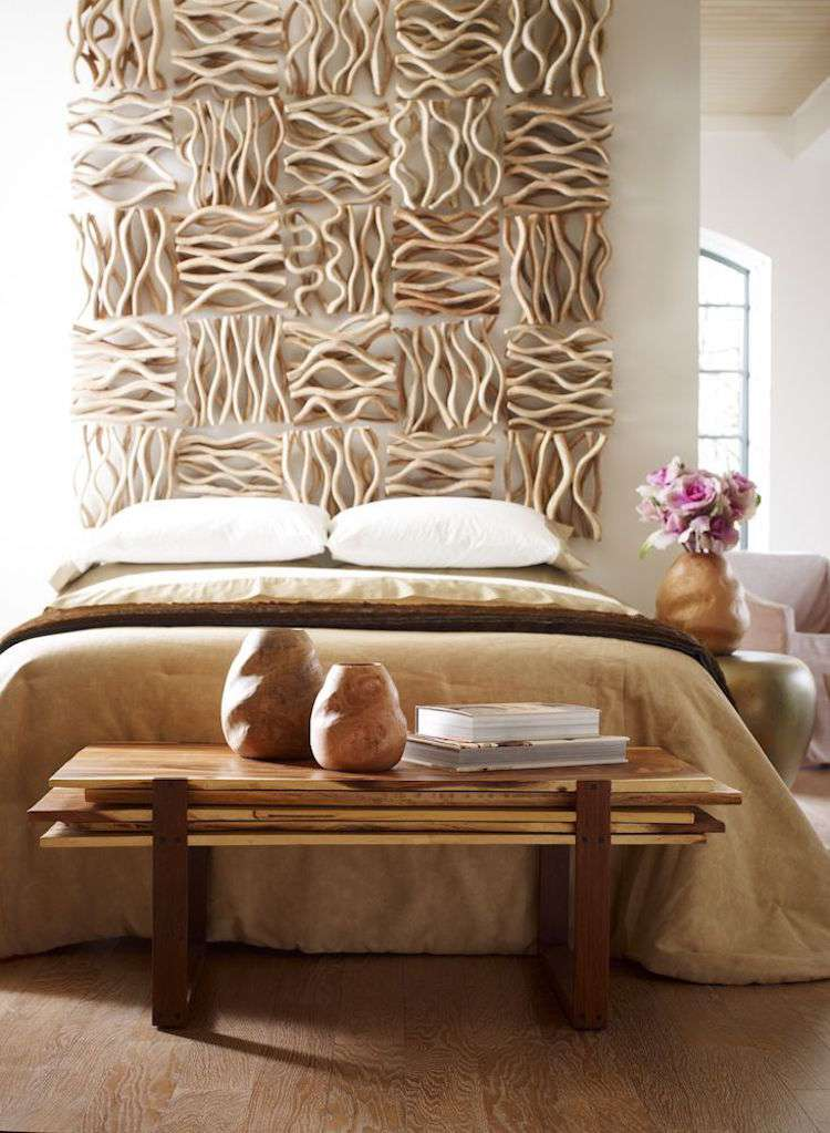 tete de lit bois flotte une