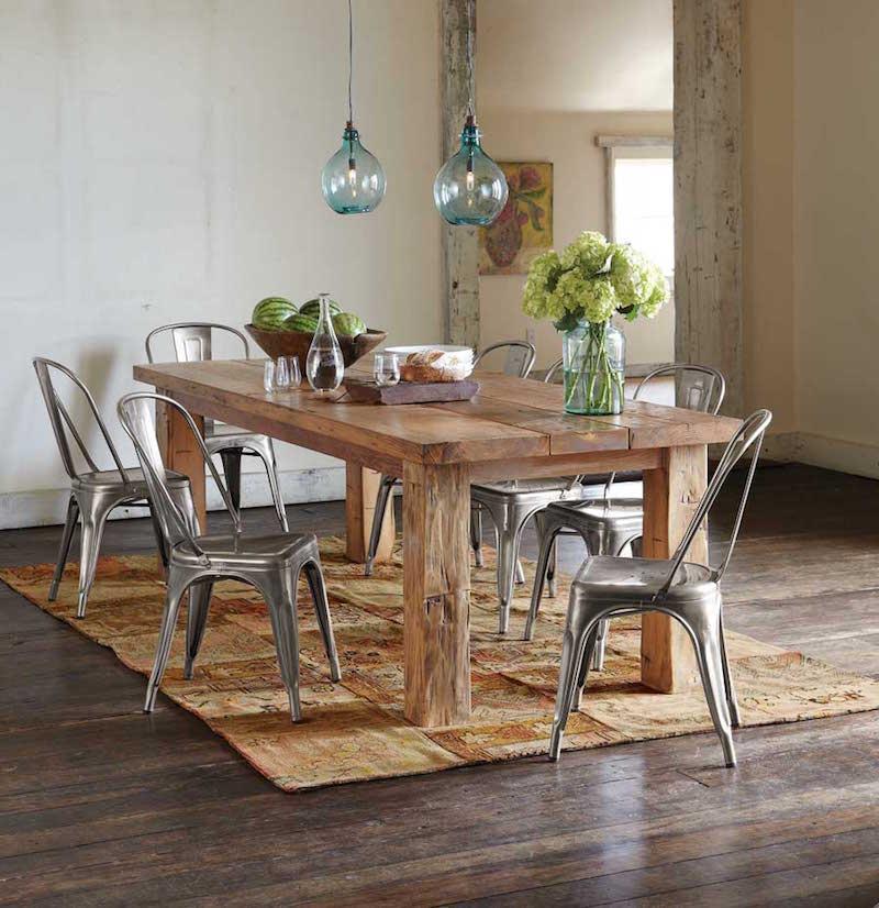grande table a manger en bois massif