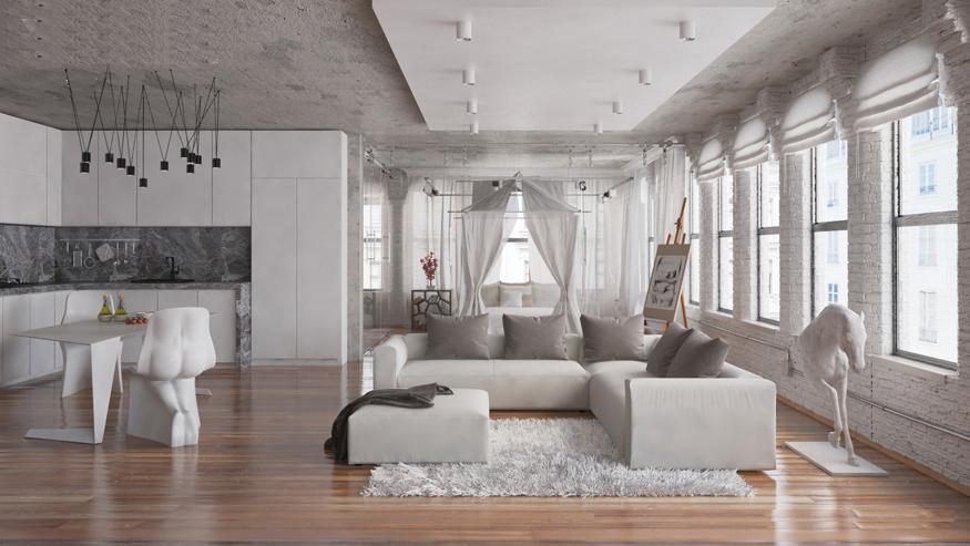 deco salon gris blanc bois 35 idees