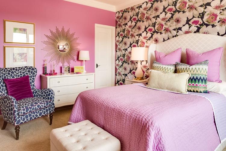 deco chambre fille ado en rose or et