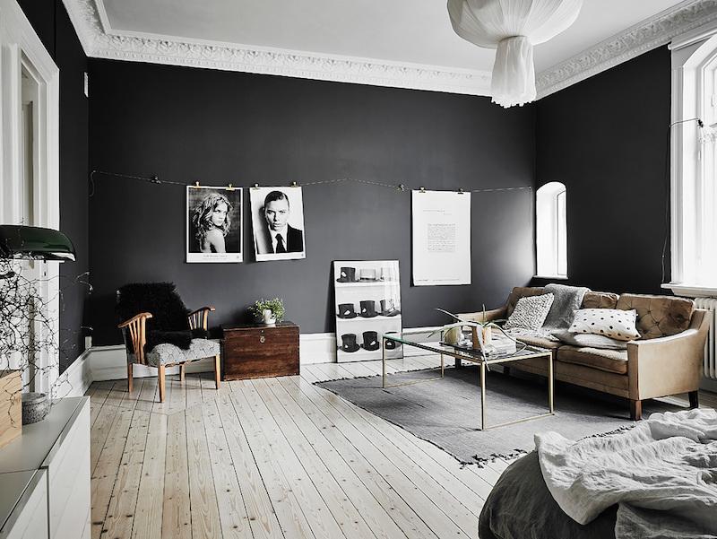 decoration scandinave en noir et blanc
