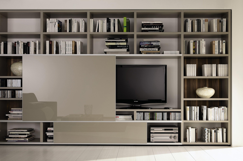 meuble tv bibliotheque beige laque vase peinture murale meuble tv bibliotheque en 40 idees pour organiser le rangement de facon optimale