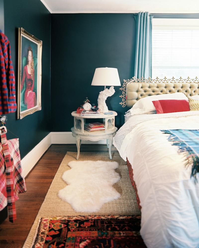 chambre bleu canard avec quelle couleur