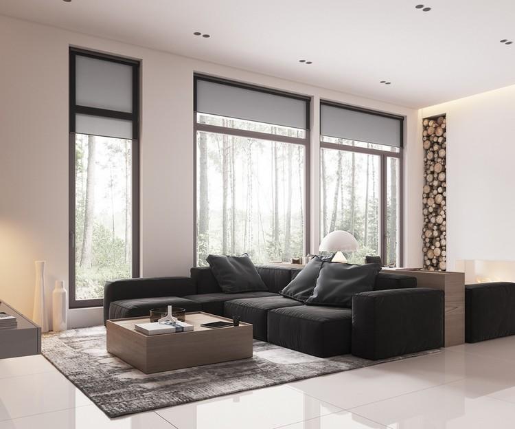 bois clair d un appartement design
