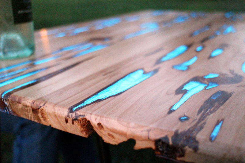 table resine epoxy phosphorescente en