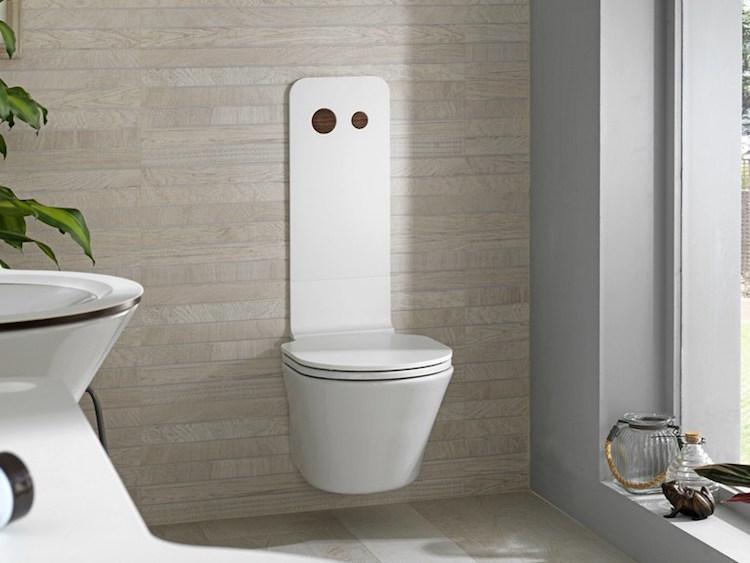 toilette suspendue pour donner une