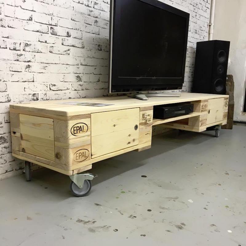 meuble en palette interieur et