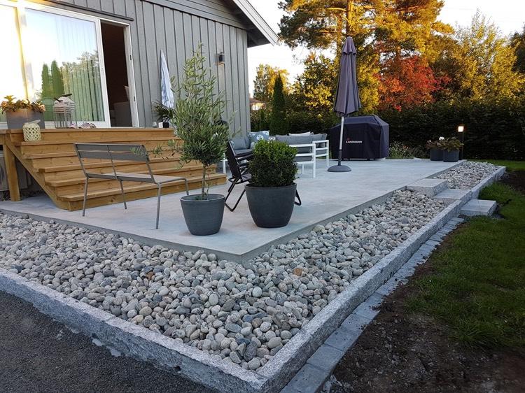 Terrasse Beton Avec Motif Cheap Alle Et Terrasse En Bton