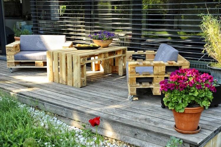 salon de jardin en palette 35 diy