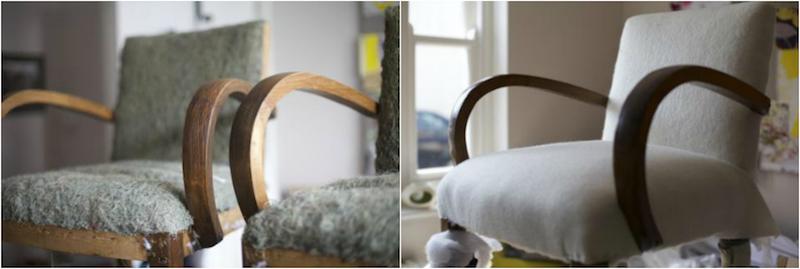 comment relooker fauteuil bridge ancien retapisser pro