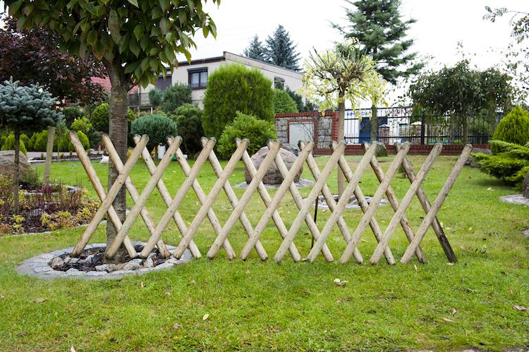 jardin pour delimiter le terrain
