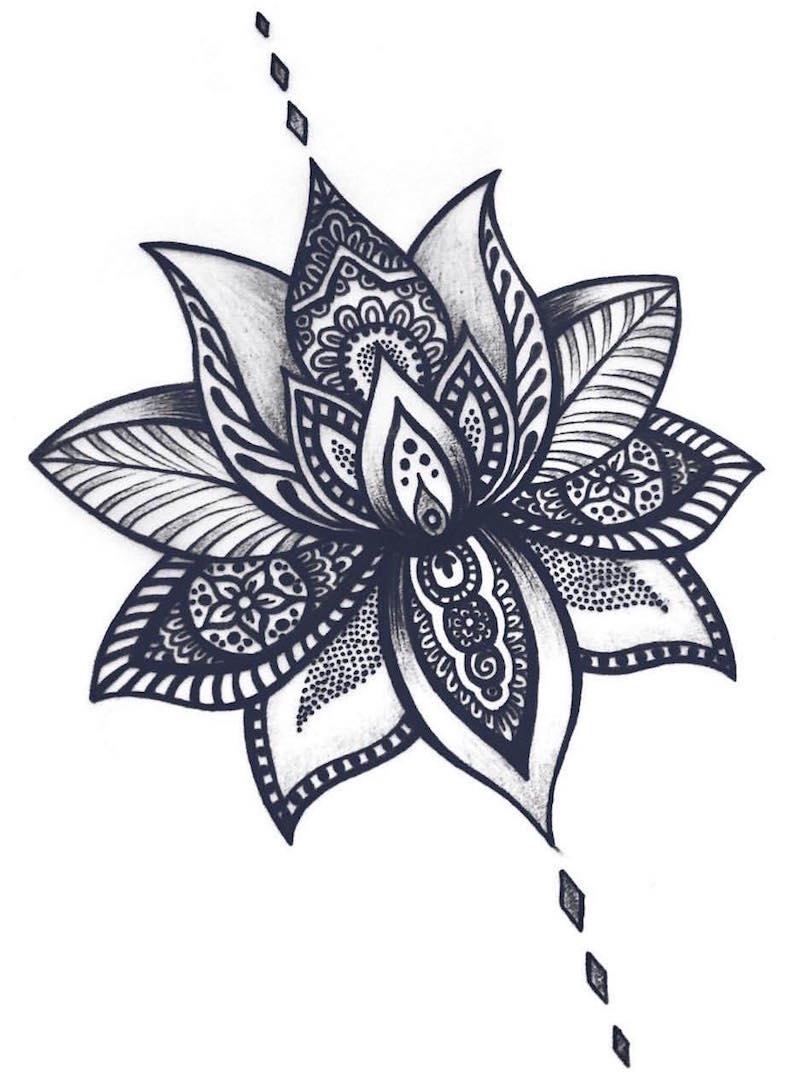 Lily Flower Tattoo Design Cover