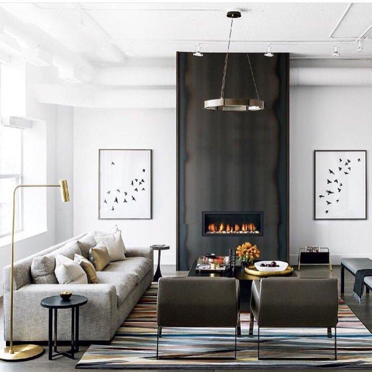 salon moderne peinture meubles