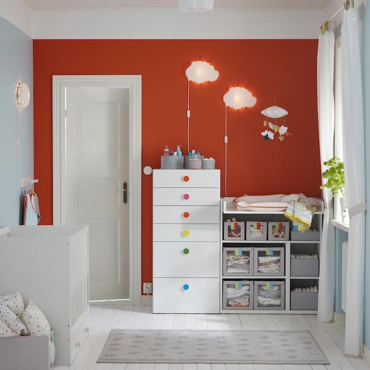 idees chambre enfant ikea appliques nuages idees chambre enfant ikea union de meubles pratiques et decoration coloree
