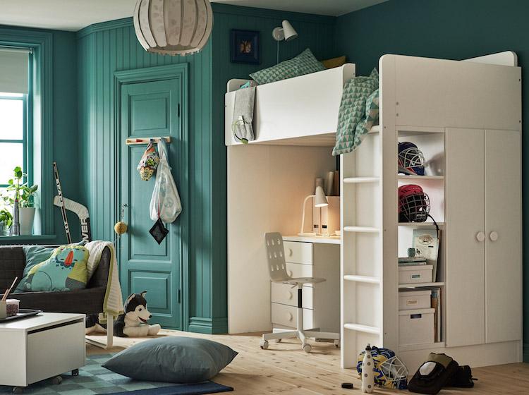 idees chambre enfant ikea lit mezzanine bureau idees chambre enfant ikea union de meubles pratiques et decoration coloree