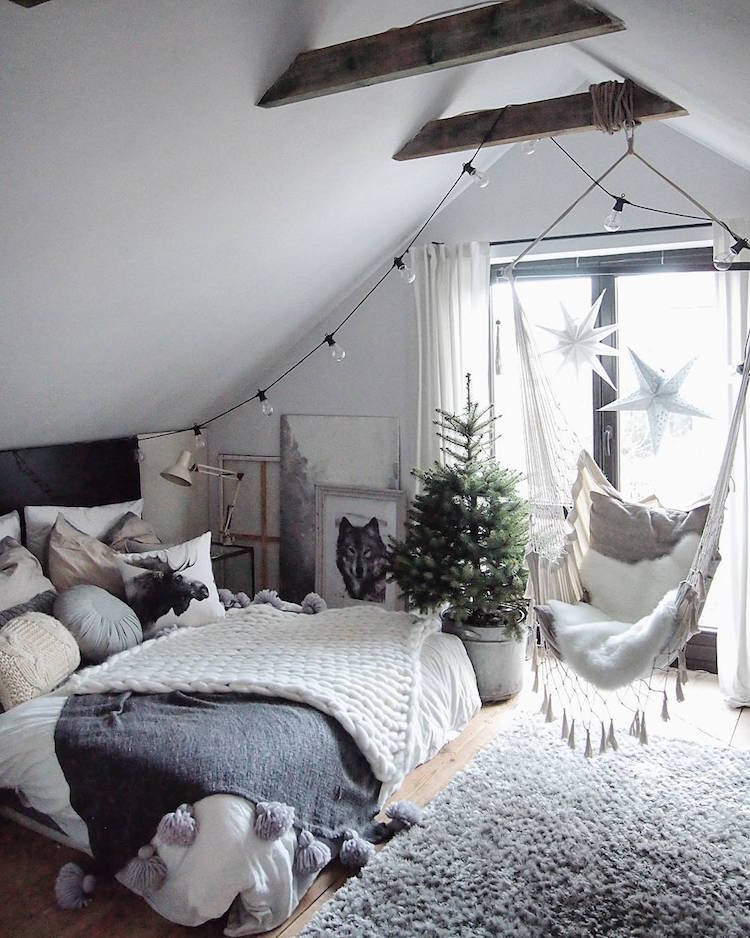 decoration chambre adulte scandinave amenagee sous combles decoration chambre adulte inspiree par les top idees sur pinterest