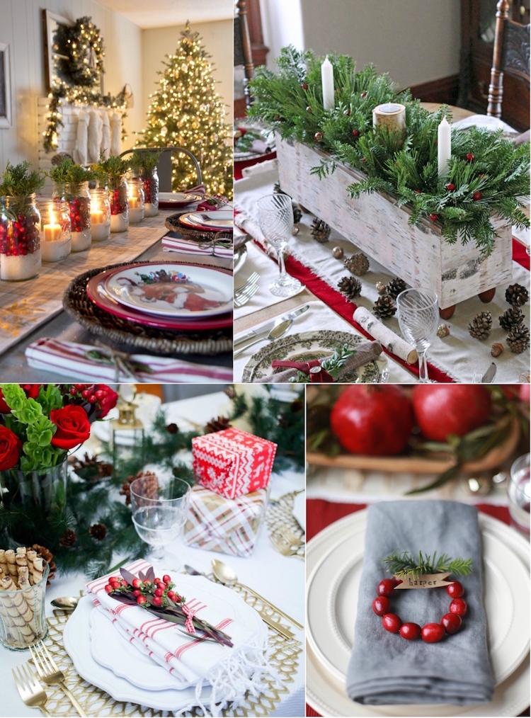 decoration de table noel blanc branches sapin baies rouges 100 idees flambant neuves de decoration de table noel 2017 traditionnelle ou moderne