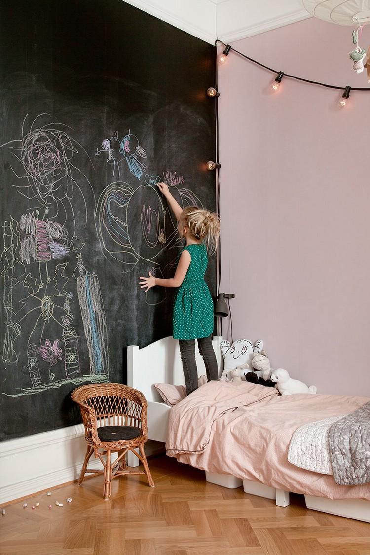 peinture ardoise dans la chambre d
