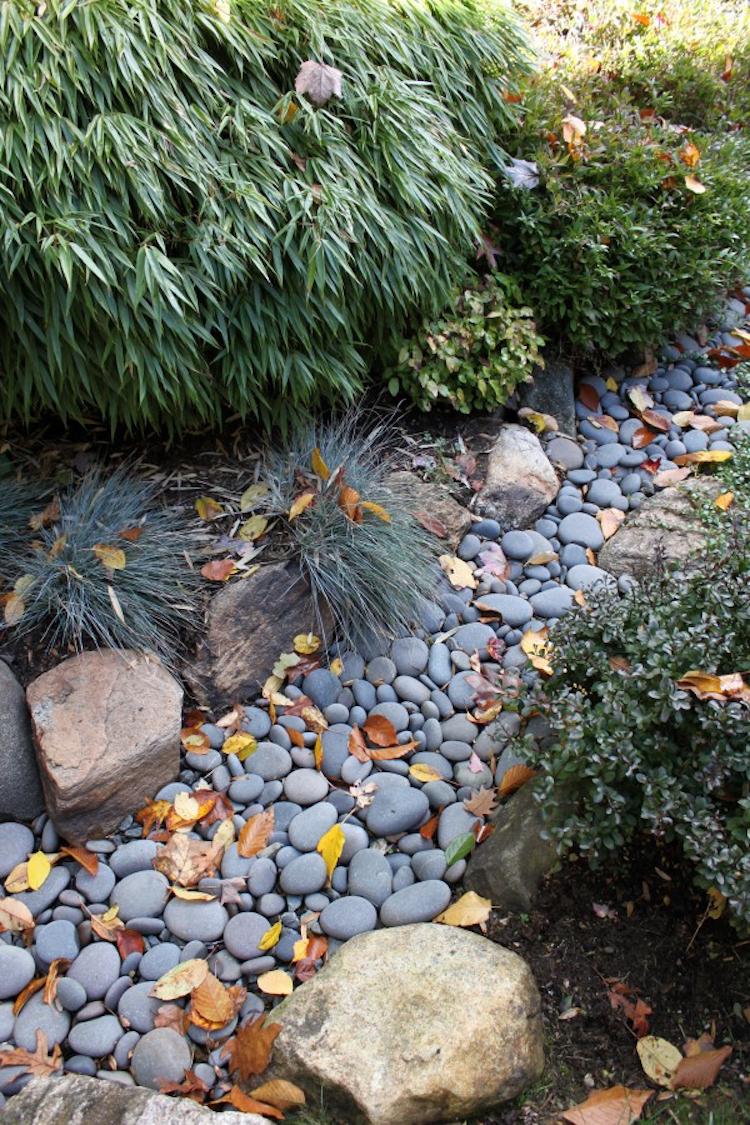 Large River Rock Landscaping