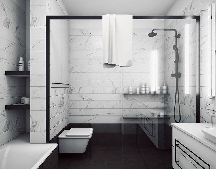 salle de bain en marbre moderne en 40