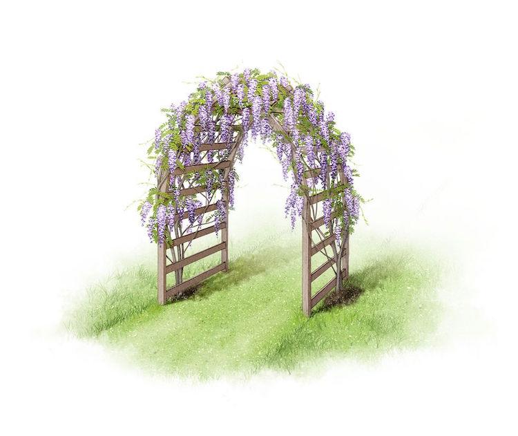 6 styles d arche de jardin pour