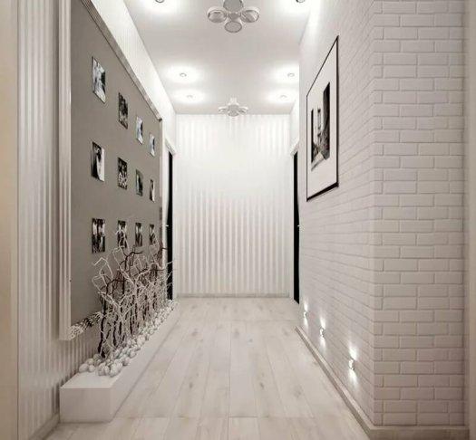 couloir gris et blanc