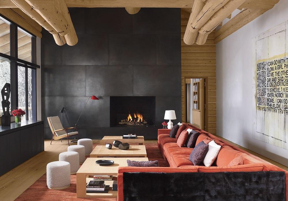 salon en bois moderne idees pour