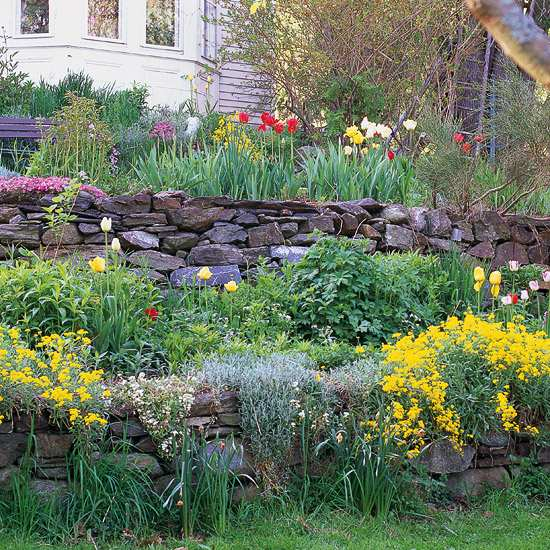 Sloping garden ideas and optimal solutions for landscape ... on Downward Sloping Garden Ideas id=97966