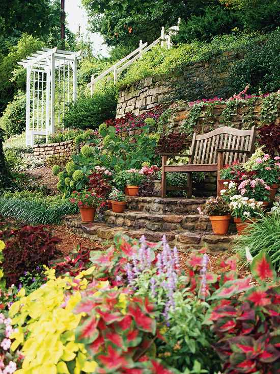 Sloping garden ideas and optimal solutions for landscape ... on Garden Ideas For Sloping Gardens id=75768