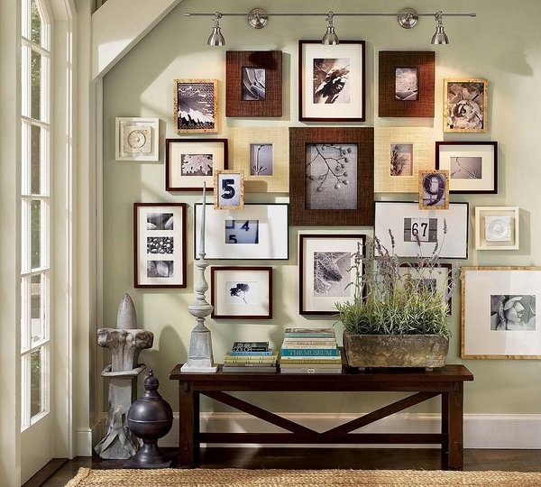 How to arrange a photo wall - tips and creative ideas on Creative Living Room Wall Decor Ideas  id=43355