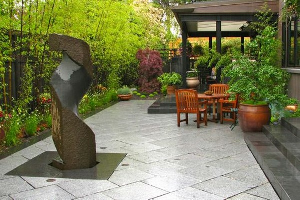20 ideas for garden fountains and tips for material selection on Modern Feng Shui Garden  id=79980
