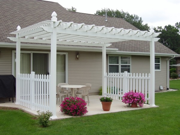Modern garden pergola designs increase the visual value of ... on White Patio Ideas id=85605