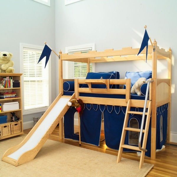 Trendy Bunk Beds With Slide Decorating Ideas For The Kids Room