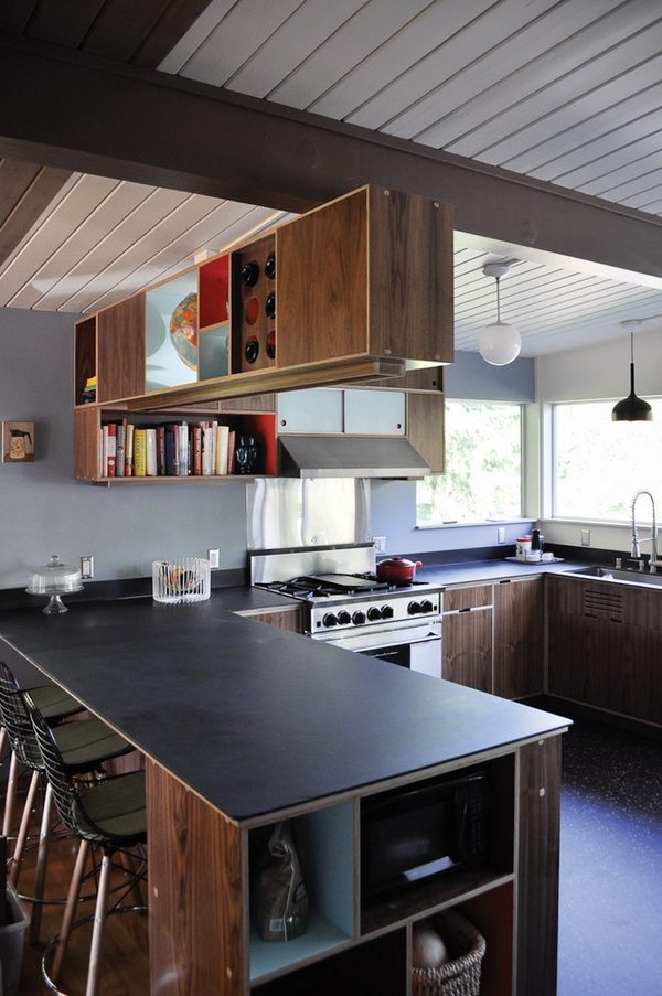 The beauty of natural materials - slate countertops for ... on Kitchen Counter Decor Modern  id=83996