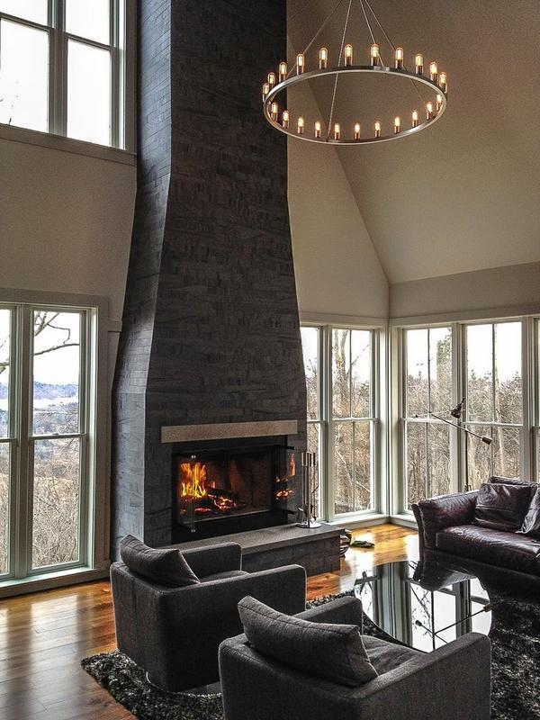 55 Unique Cathedral And Vaulted Ceiling Designs In Living Rooms