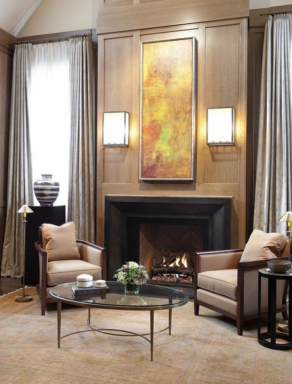 Contemporary wall sconces in the interior design on Modern Wall Sconce Lights id=89532