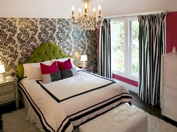 Small Bedroom Ideas For Decoration Accent Wallpaper Black And White