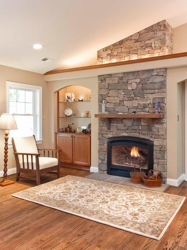 Warm up your home with an awesome stone fireplace on Small Space Small Living Room With Fireplace  id=95691