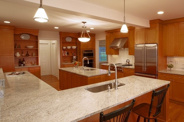 Kashmir White granite countertops - 25 ideas for the kitchen on Light Maple Cabinets With White Countertops  id=36676
