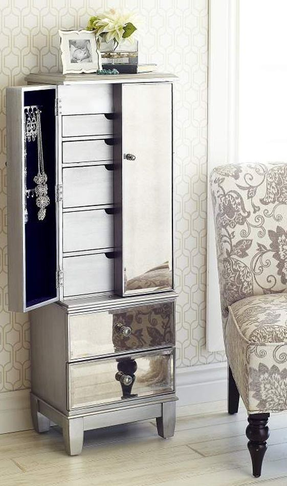 Mirror Jewelry Armoire Affordable And Adorable Jewelry