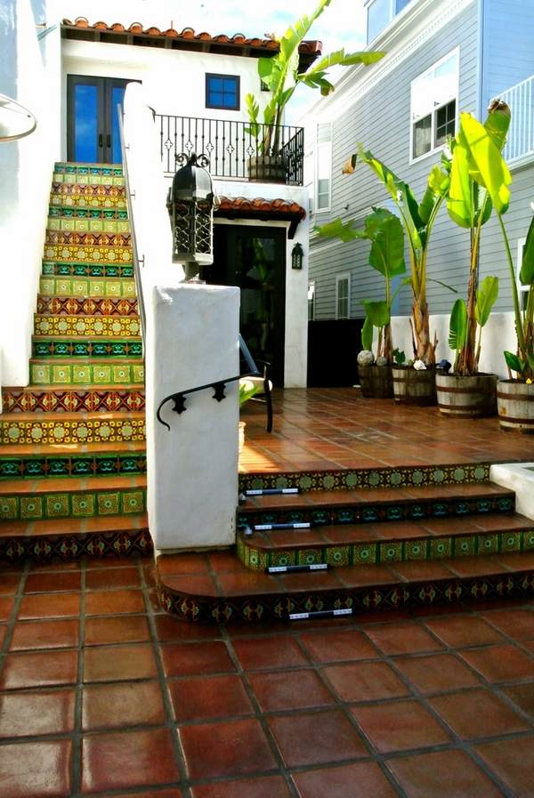 Mexican tiles in the interior - richness of colors and ... on Mexican Patio Ideas  id=64985
