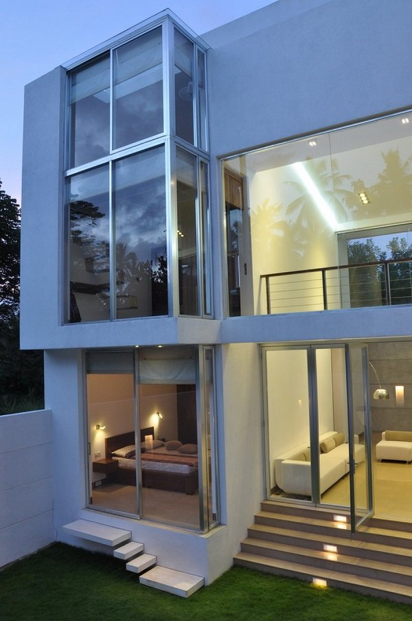 20 glass front door designs - contemporary style of living on Glass House Design Ideas  id=43697